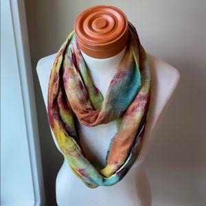 Tie dye infinity scarf by rising tide
